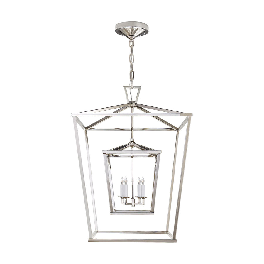 4 Light 24 inch Foyer Lantern Ceiling Light