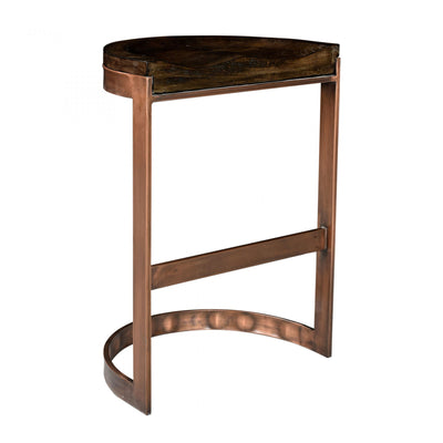 Modern design stool with solid mango wood