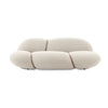 modern design cream 3 seater sofa