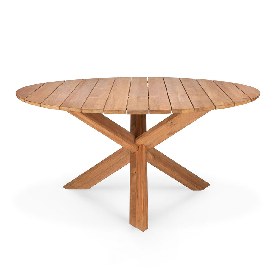 Teak Circle Outdoor Dining Table {54x54x30}
