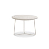 Modern design white marble top end table