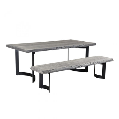 Bent Dining Table Extra Small - Weathered Grey