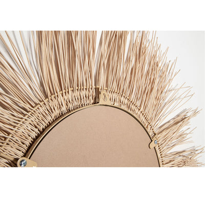 wall decor mirror made with natural coconut ribs