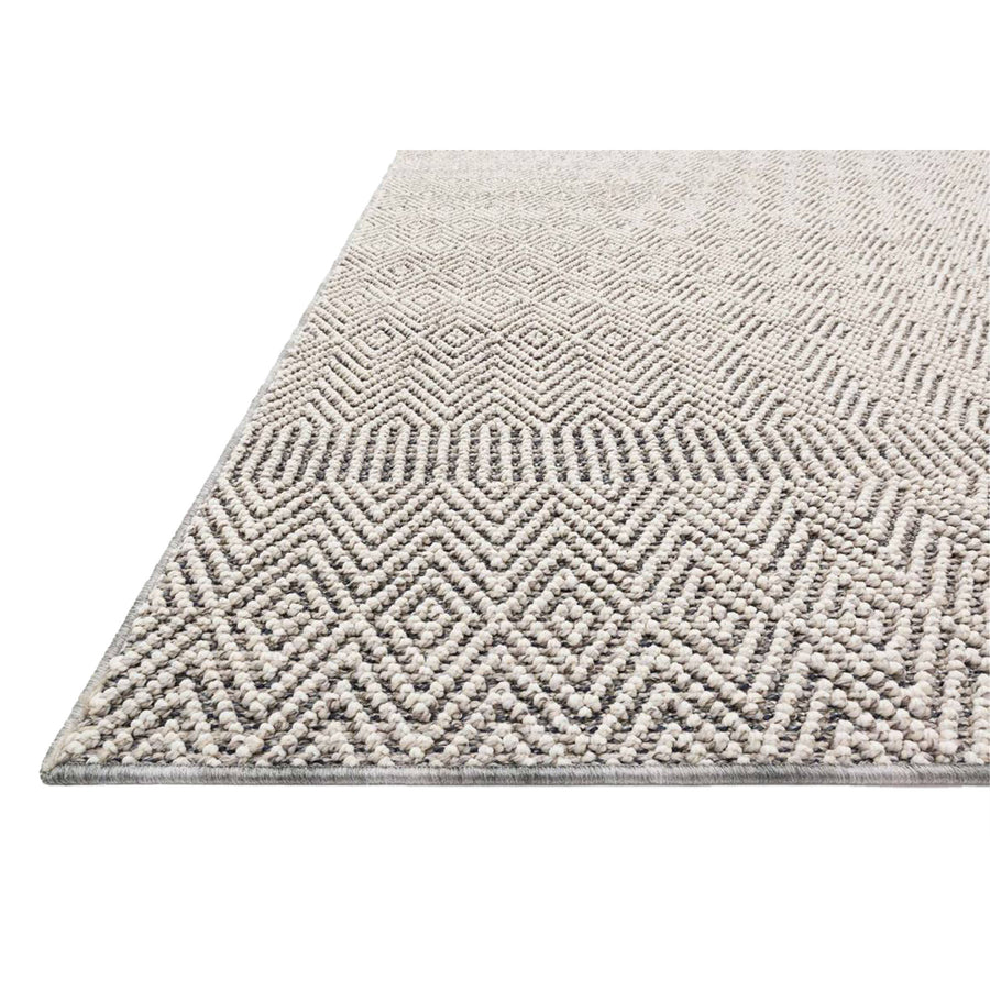 Indoor & outdoor rug with contemporary neutral tones and beautiful textural details