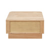 oak rounded corners nightstand