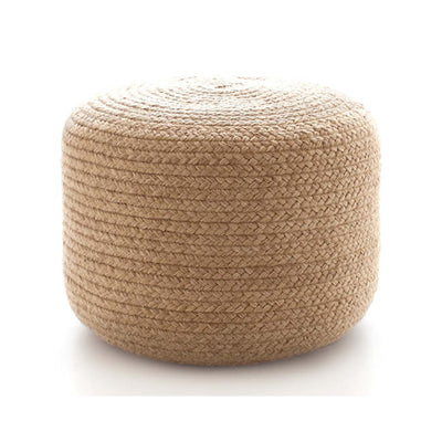 Braided Natural Indoor/Outdoor Pouf