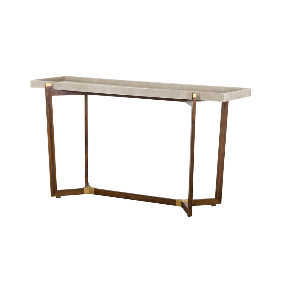 Vibe Shagreen Console Table - Ivory