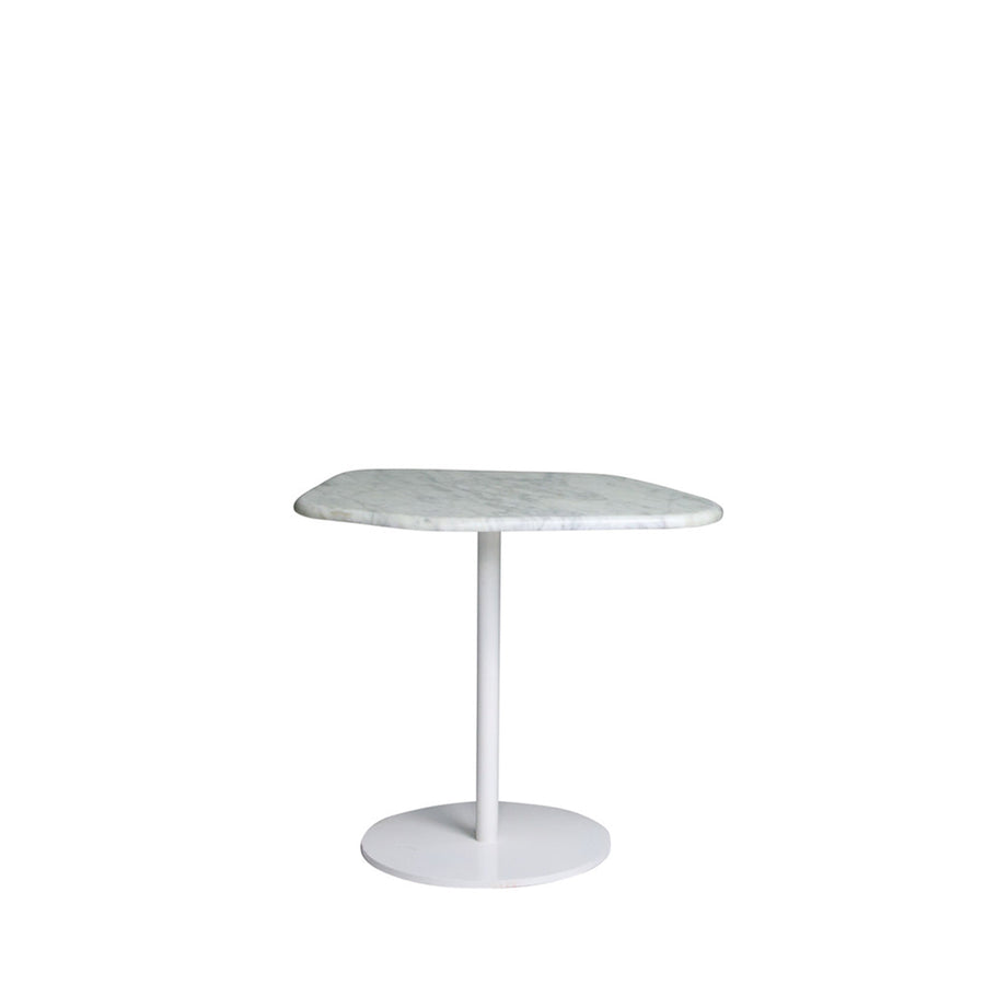 Hanna Shape Marble Tables - White