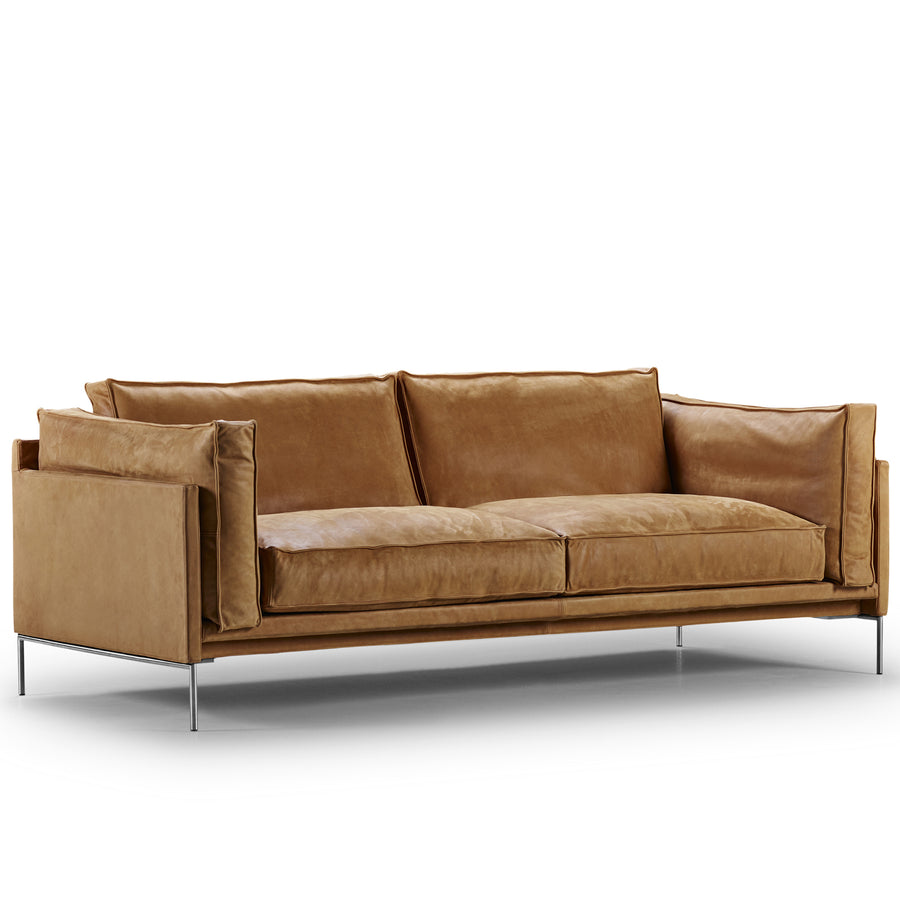 Slimline Leather Sofa
