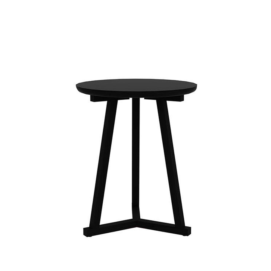 Oak Blackstone Tall Tripod Side Table