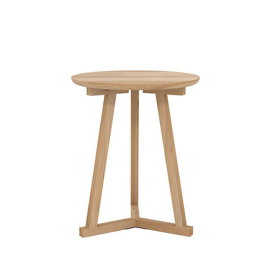 Oak Natural Tall Tripod Side Table