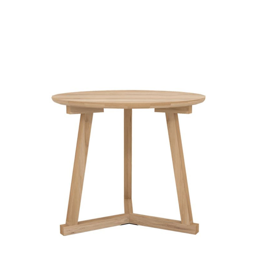 Oak Natural Short Tripod Side Table