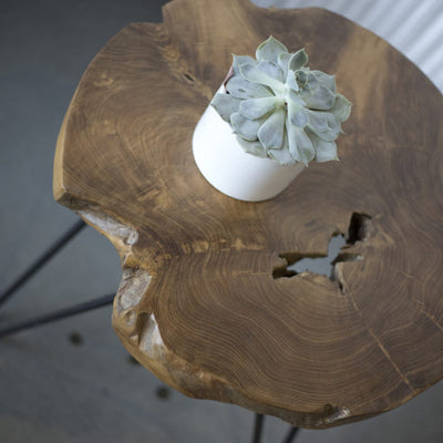 Natura Hairpin Round Side Table