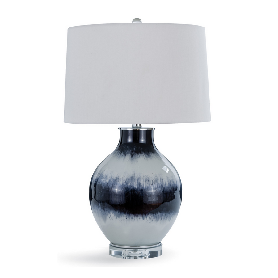 Indigo Stripe Table Lamp