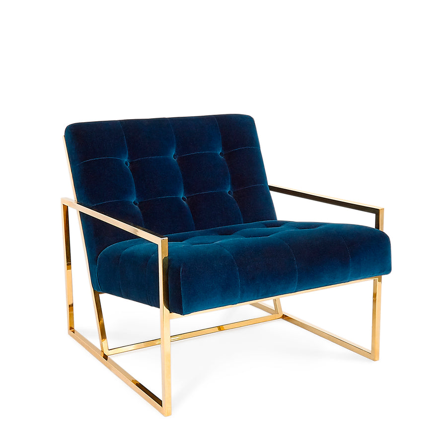 Goldfinger Lounge Chair - Rialto Velvet