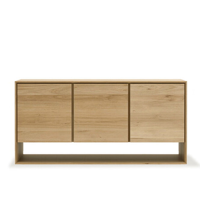 Oak Nordic 3 Door Sideboard