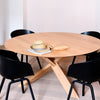 Oak Circle Dining Table - Large