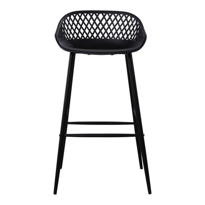 Piazza Outdoor Bar Stool - Black