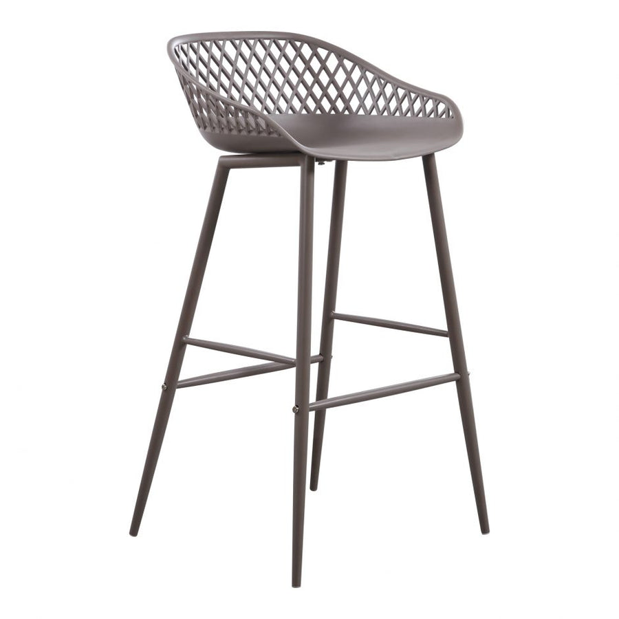 Piazza Outdoor Bar Stool - Grey