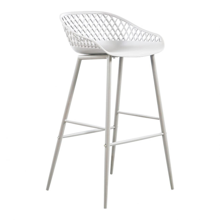 Piazza Outdoor Bar Stool - White
