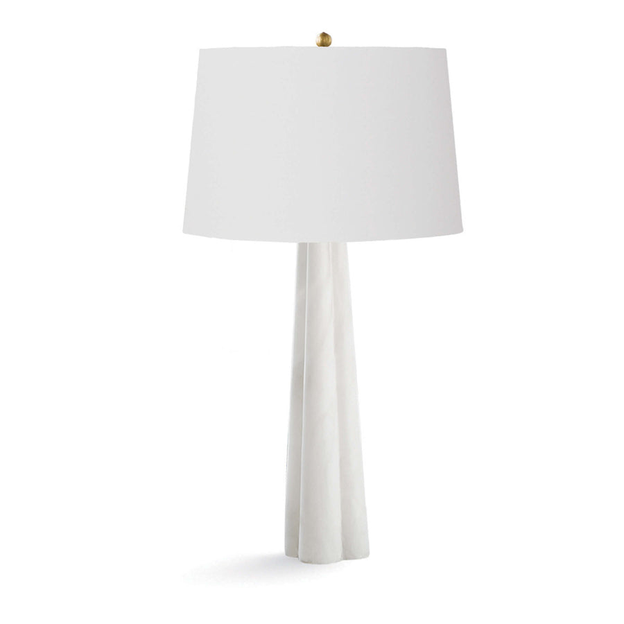 Alabaster Quatrefoil Table Lamp