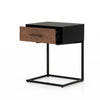 August C Shaped Side Table/Nightstand