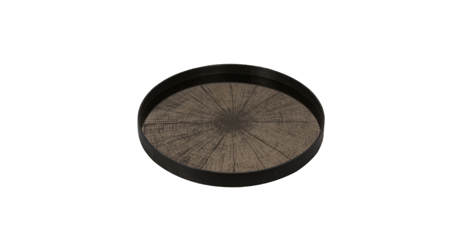 Bronze Slice Mirror Tray