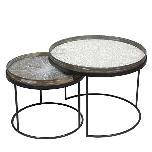 Round Tray Table Base Set - Low