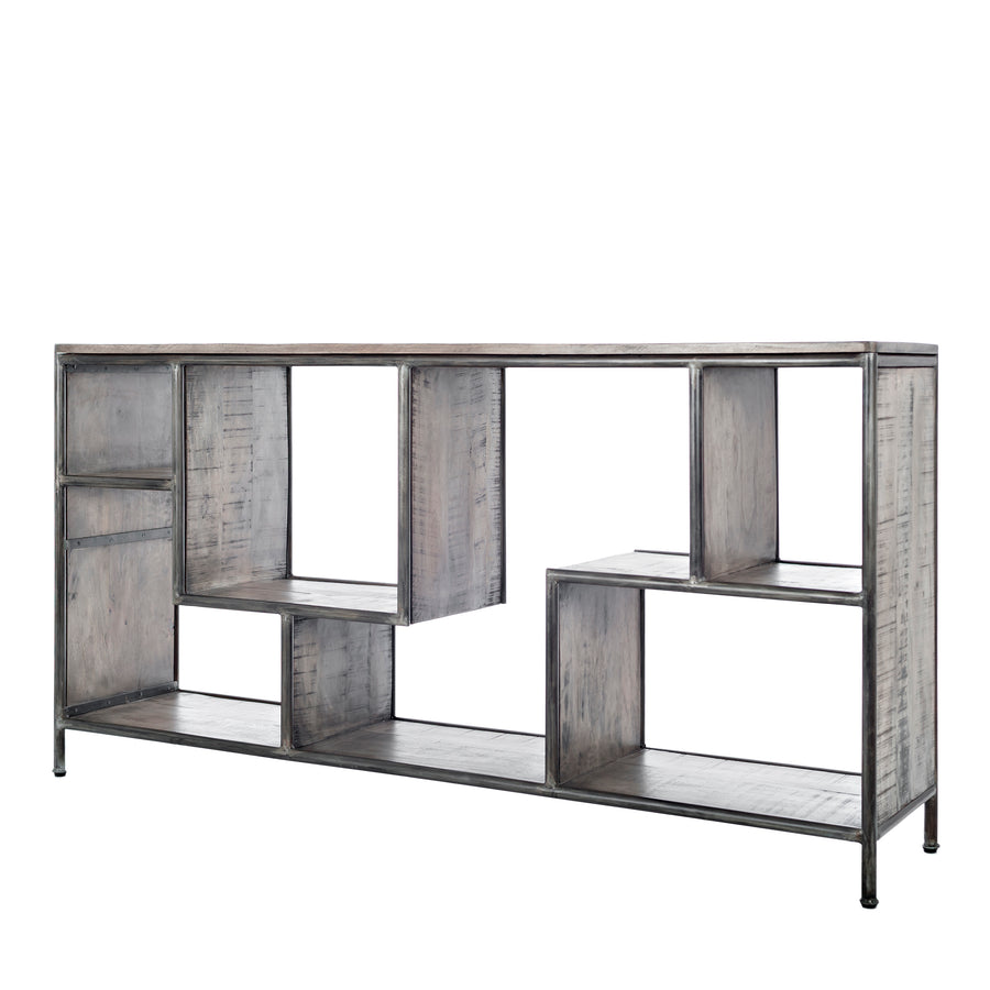 Cubix Metal Low Bookcase