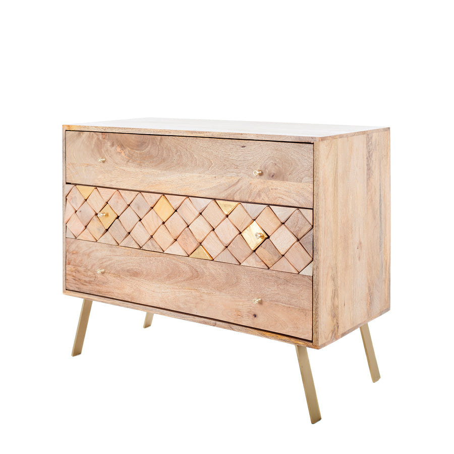 Milan 3 Drawer Chest