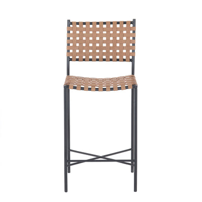 Garza Counter Stool - Natural Leather