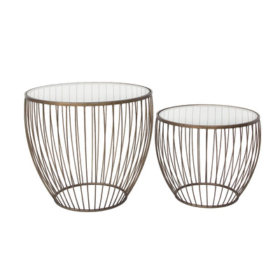 Cyclone Glass Accent Tables