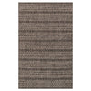 Isle Outdoor Rug - Black Grey