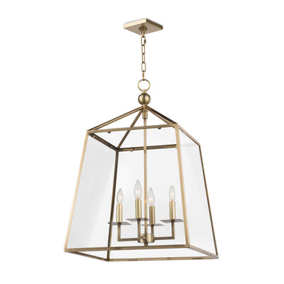 Cachet Metal and Glass Pendant Lantern