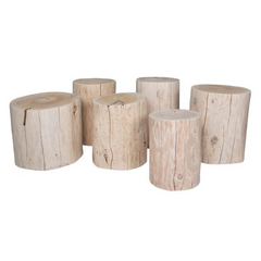 Totem Stumps - Round Whitewash