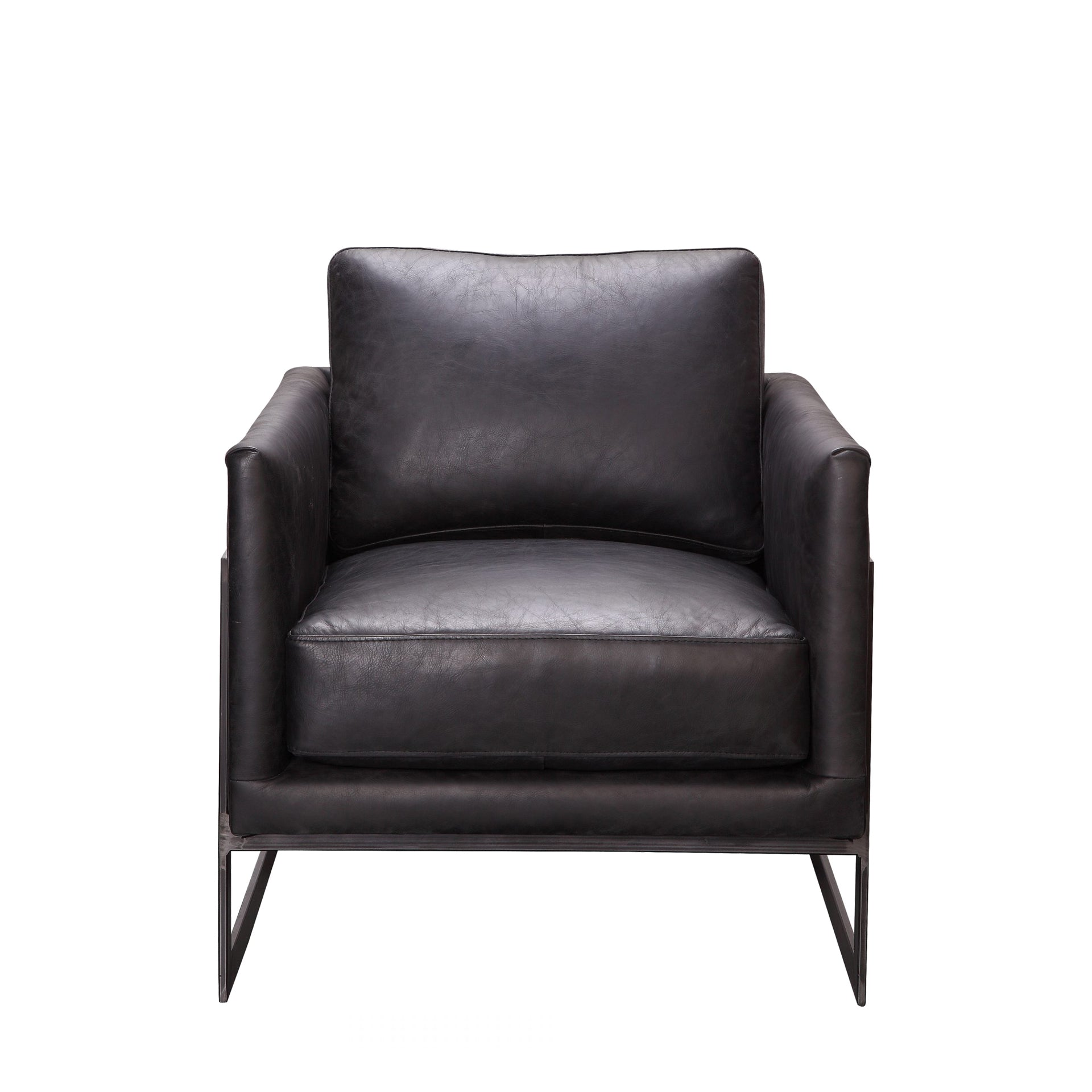 Picture of: Luxley Leather Club Chair Cf Interiors