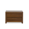 Clance 2 Drawer Nightstand - Natural Walnut