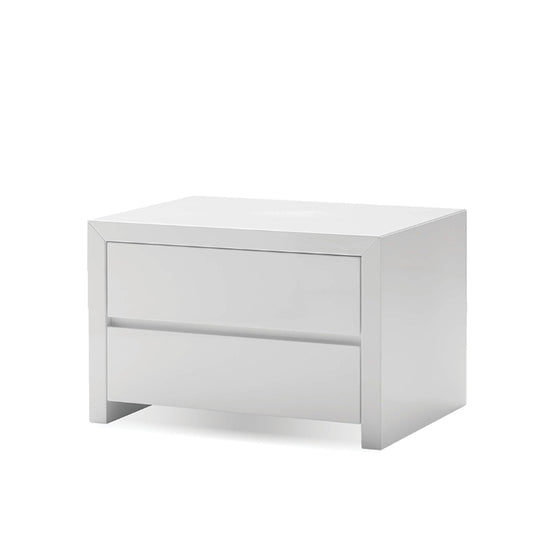 Clance 2 Drawer Nightstand - High Gloss