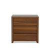 Clance 3 Drawer Nightstand - Natural Walnut