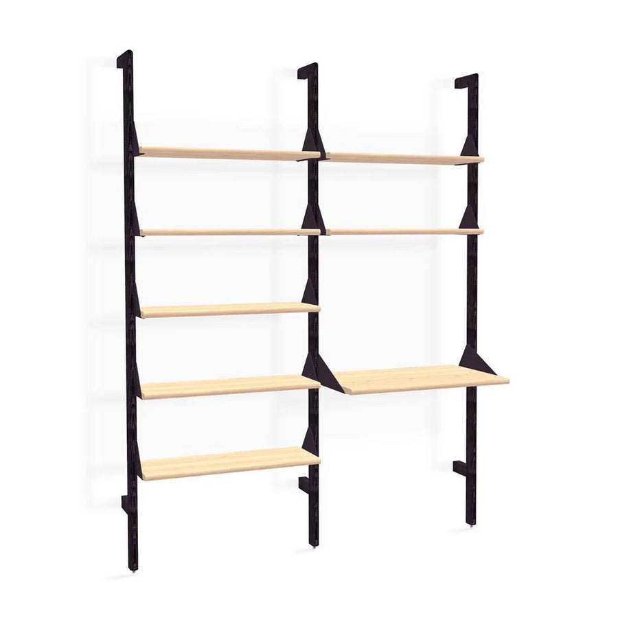 Branch Double Shelving Unit with Desk