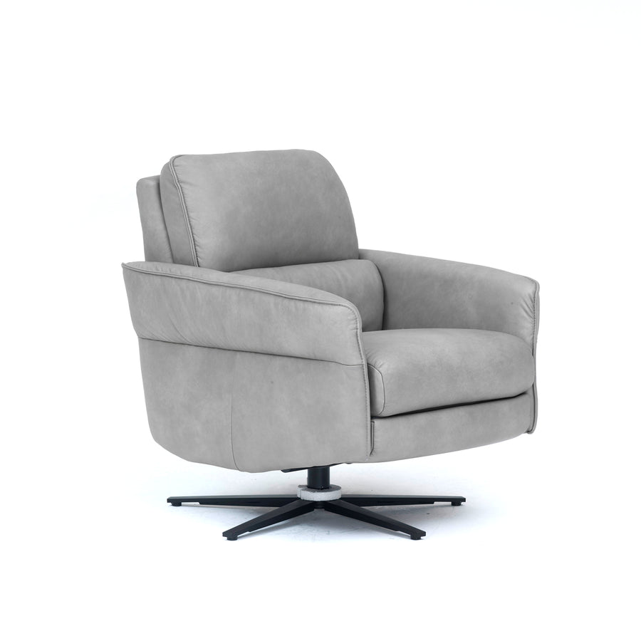 Aura Leather Swivel Recliner