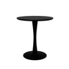 Torsion Black Oak Dining Table - Small