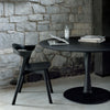 Torsion Black Oak Dining Table - Large