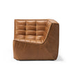 Jacques - Leather Corner Seat - Old Saddle  {N701}