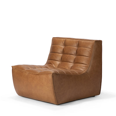 Jacques - Leather 1 Seater - Old Saddle  {N701}