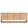 Oak Nordic 4 Door Sideboard