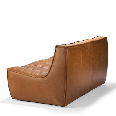 Jacques - Leather 2 Seater - Old Saddle  {N701}