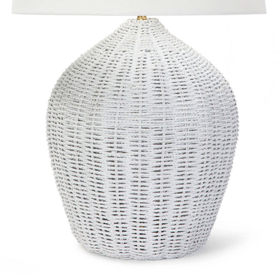 Georgian Table Lamp - White