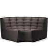 Jacques - Rounded Corner Seat - Dark Grey  {N701}