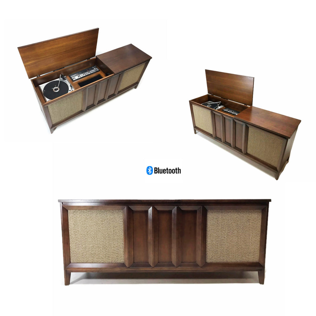 The Vintedge Co™ - PHILCO Long and Low Vintage Record Player Changer Stereo Console - Bluetooth